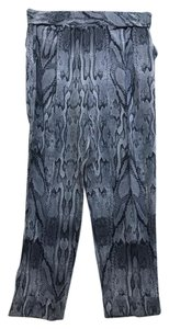 INTERMIX Relaxed Pants grey and white animal print