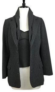 Jean-Paul Gaultier Stripe Charcoal Gray Blazer
