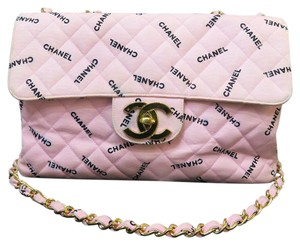 Chanel Maxi Single Flap Canvas Shoulder Bag