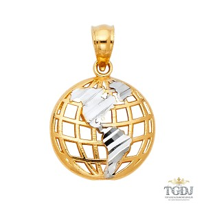 Top Gold & Diamond Jewelry GLove Pendant, 14K Two Tone Gold GLove Pendant,14k Gold Two Tone