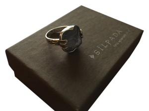 Silpada Etched Glass And Sterling Silver Ring Size8