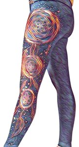 Tory's Timeless Treasures Boutique Black/Orange Multi Leggings