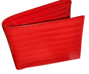 Dior mens red patent leather dior wallet