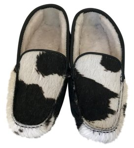 Other Hair Fur Black/White Flats