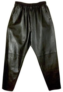 Nancy Heller Leather Relaxed Pants black