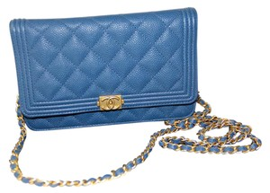 Chanel Boy Mini Caviar Leather Cross Body Bag