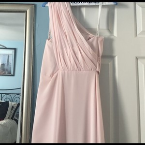 Azazie Blush One Shoulder Blush Azazie Gown Dress