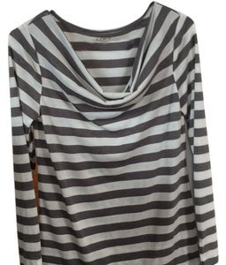 Ann Taylor LOFT Top grey stripe