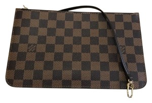 Louis Vuitton Pochette Wallets Clutch Damier Wristlet in (Damier Ebene)