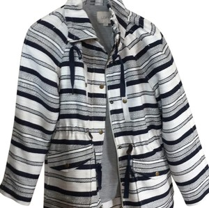 Ann Taylor LOFT navy and white Jacket