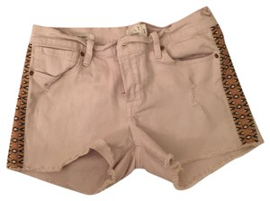 Lucky Brand Cut Off Shorts tan with trim