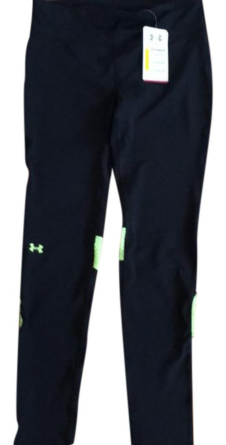 Under Armour Black and Yellow Heat Gear Compression Activewear Bottoms Size 8 (M) Under Armour Black and Yellow Heat Gear Compression Activewear Bottoms Size 8 (M) Image 1