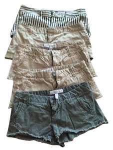 American Eagle Outfitters Mini/Short Shorts 3 tan, one army green, one striped