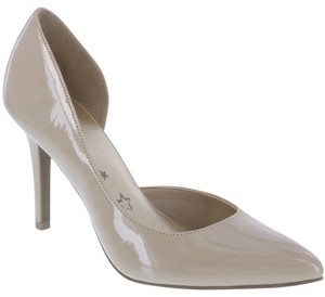 Brash Patent D'orsay Heel Pointy Nude Pumps
