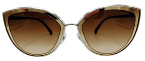 Chanel Chanel Cat Eye Summer 18k Gold and Brown Sunglasses 4222 c.124/S5 54