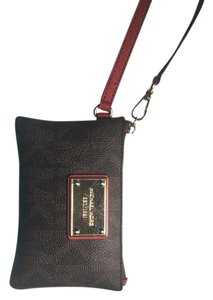 Michael Kors Wristlet in Brown leather with Red Wristlet