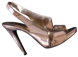 Nine West Leather Casual Sandal bronce Formal