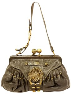 Juicy Couture Leather Solid Brass Vintage Shoulder Bag