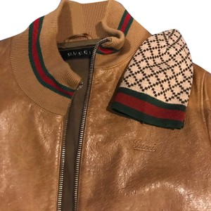 Gucci Leather Jacket Rust Brown Leather Jacket