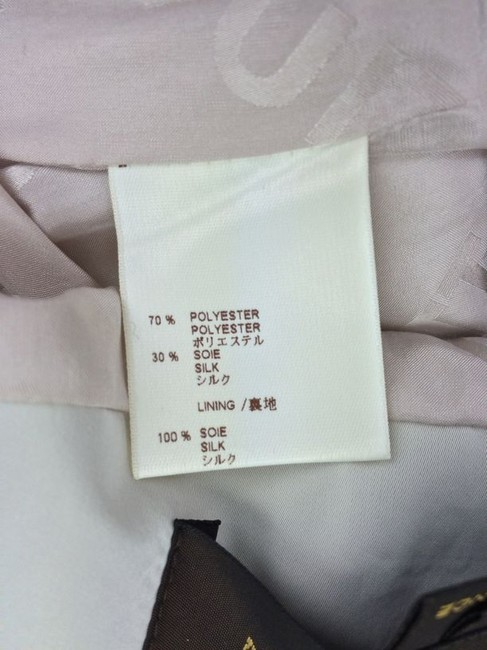 Louis Vuitton Louis Vuitton Beige Poly Silk Skirt Suit with Cropped Jacket