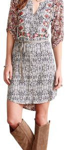 Anthropologie short dress Blue, Pink floral on Tradesy