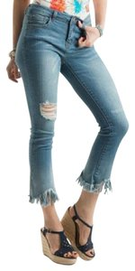 JW Signature Capri/Cropped Denim-Medium Wash