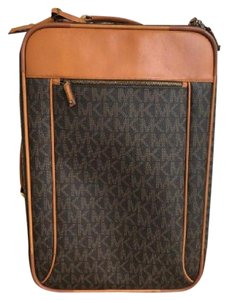 Michael Kors Luggage Suitcase Monogram Rolling Brown Travel Bag