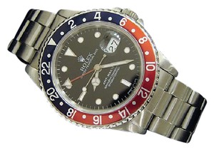 Rolex Mens Rolex Stainless Steel GMT-Master Blue & Red Pepsi 16700