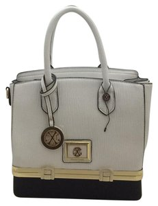 Christian Lacroix Satchel in White-Black