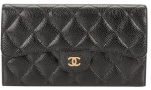 Chanel CHANEL Caviar Quilted Large Flap Wallet