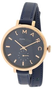 Marc by Marc Jacobs Marc Jacob Sally Navy Double Wrap Leather Strap Watch 36mm MBM8662