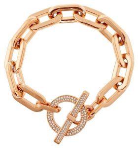 Michael Kors NWT Pave Rose Gold-tone Toggle Bracelet MKJ4865791