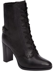 Michael Kors Tie Up Steampunk Leather Carrigan Black Boots