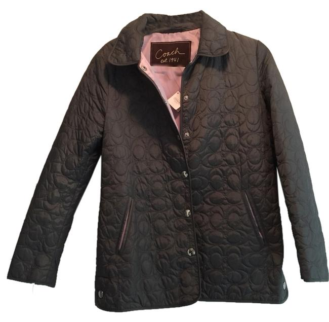 """Item - Gray and Purple Quilted """"C"""" Jacket Size 0 (XS)"""