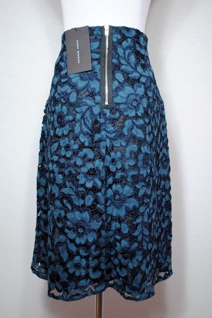 Zara Floral Lace Night Out Spring Party Skirt Multicolor