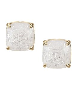 Kate Spade Kate spade New York White Multi Square Stud Earrings