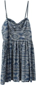 Cecico short dress Blue and Ivory Summer Aztec Designs on Tradesy