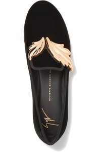 Giuseppe Zanotti Cruel Winged Slippers Loafers Black Flats