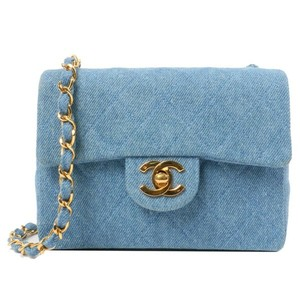 Chanel Vintage Mini Flap Denim Rare Cross Body Bag