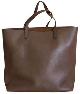 Madewell Large Floppy Casual Carryall Minimalist Tote in Brown