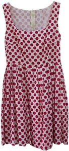 dELiA*s short dress Pink and White Summer Polka Dot Lined on Tradesy