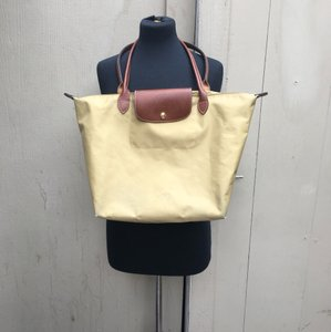 Longchamp Tote in tan and brown