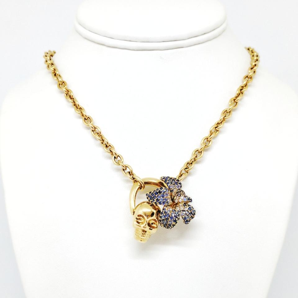 Gucci flora collection gold skull and flower necklace tradesy gucci gucci flora collection gold skull and flower necklace mightylinksfo