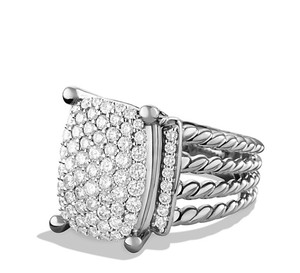 David Yurman David Yurman Wheaton Diamond Sterling Silver Ring