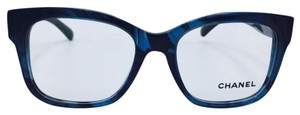 Chanel Chanel Square Blue and Black Stripped Eyeglasses 3347 c.1570 52