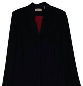 Amanda Smith Navy Knee Length Coat Suit With Slacks