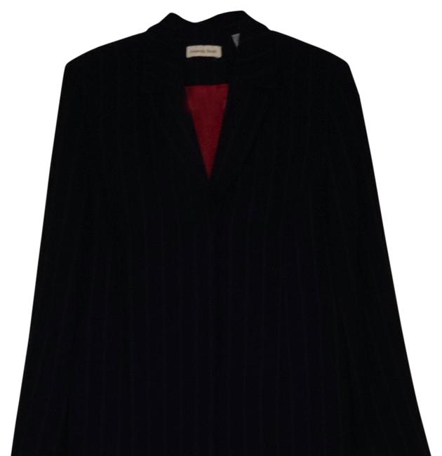 Item - Navy/Red Pinstripe Knee Length with Slacks Pant Suit Size 14 (L)