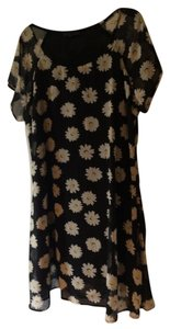 Lucca Couture short dress Black and White Daisy Dress Summer Floral Short Sleeve on Tradesy