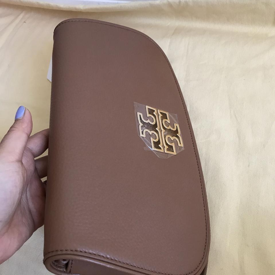 Clutch Satchel Bark Burch Britten Leather Flap Tory qw06ftf