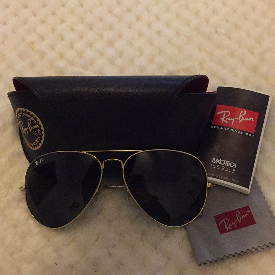063ef12e6 ... where can i buy ray ban gold green aviator large metal ii rb3026 l2846  62 14
